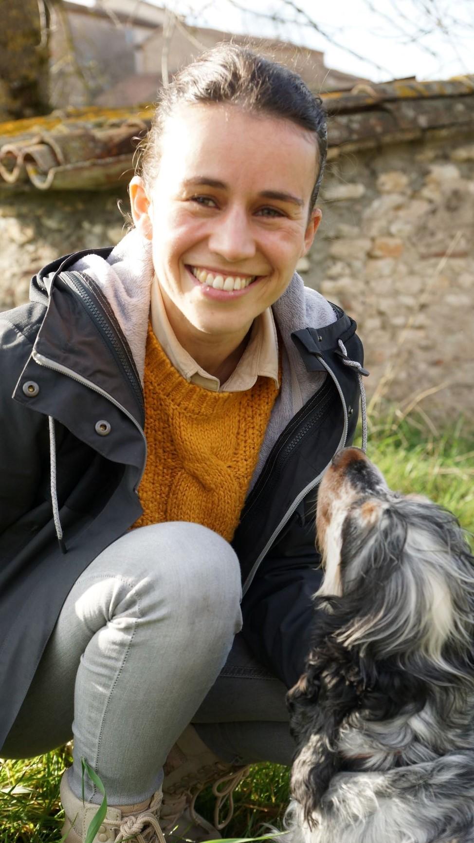 Maria Le Blévec, éducatrice canin